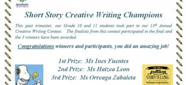 Short Story Creative Writing Champions