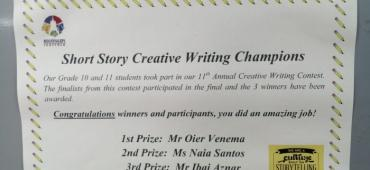 SHORT STORY CREATIVE WRITING LEHIAKETA